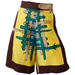 Tsumori Chisato Allligator High Waisted Silk High Waisted Shorts