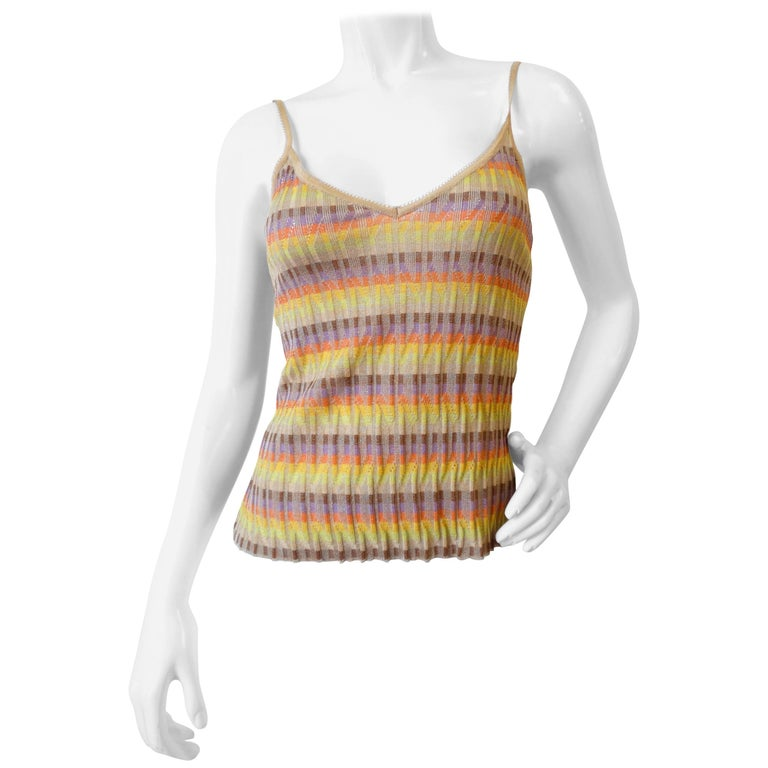 Missoni Wavy Stripe Knit Tank Top