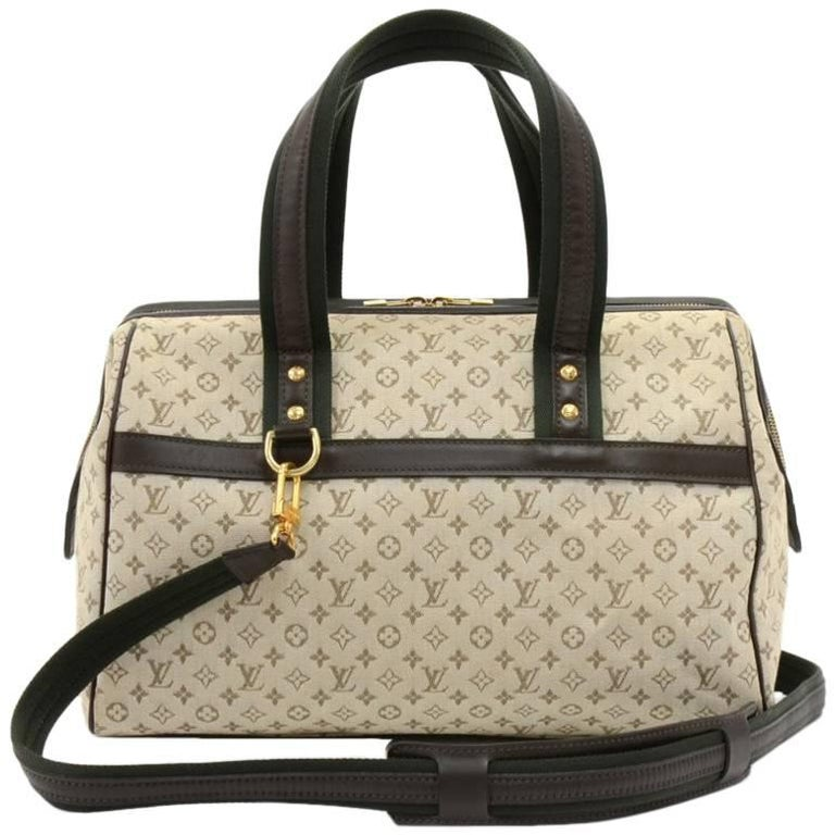 Louis Vuitton Josephine GM Khaki Mini Monogram Canvas Hand Bag