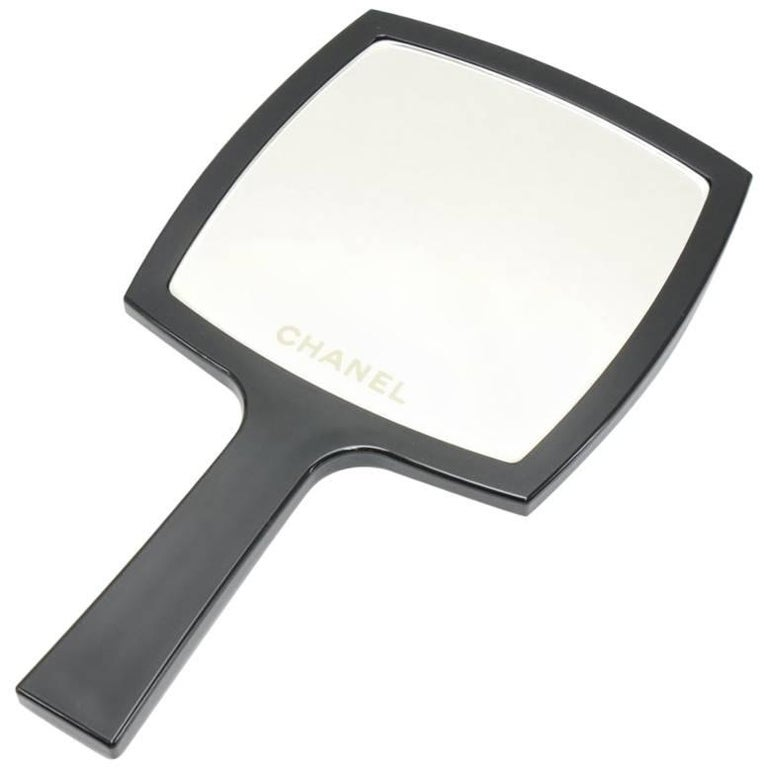 Chanel Black Large Hand Mirror