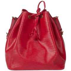 Louis Vuitton  Noe PM in red Epi leather