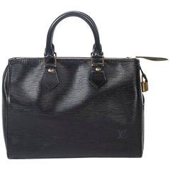 Louis Vuitton Speedy 25 in black Epi leather