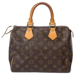 Louis Vuitton Speedy 25 in brown monogram canvas