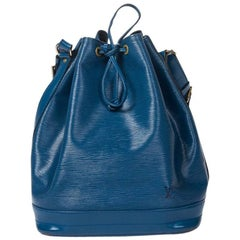Louis Vuitton Noe GM in blue Epi leather