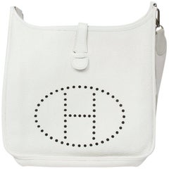 Hermès Evelyne I in white calf Taurillon leather