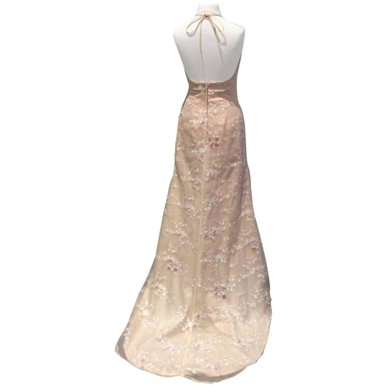 Vintage 1970's Halterneck Maxi Dress
