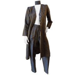 1990s Yves Saint Laurent Brocade Trouser Suit Set