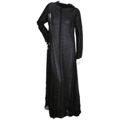 Issey Miyake Black Pleats Please Maxi Dress