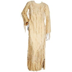 Sant' Angelo Suede Dress with Beaded Fringe, circa 1960s