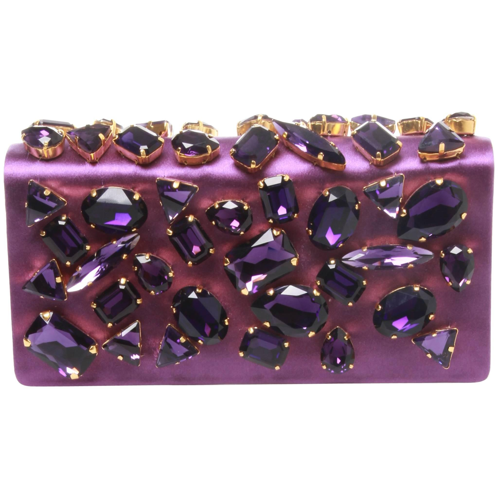 1stdibs Prada Crystal Embellished Satin Clutch