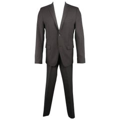 Men's THEORY 40 Regular Charcoal Solid Wool Blend Notch Lapel 31 30 Suit