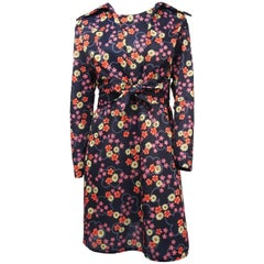 1970s Floral Mini Dress & Tie-top Jacket