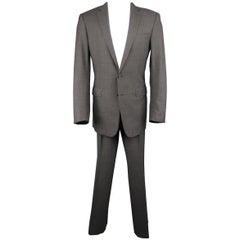 Men's RALPH LAUREN 40 Long Dark Heather Gray Wool / Cashmere 32 33 Suit