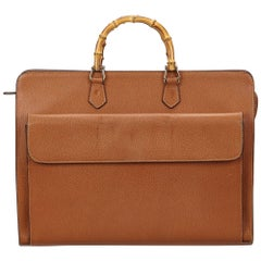 Gucci Brown Bamboo Business Bag