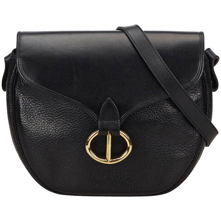 53d8606de7 Dior Black Leather Crossbody Bag For Sale at 1stdibs