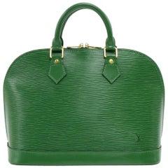 Vintage Louis Vuitton Alma Green Epi Leather Hand Bag