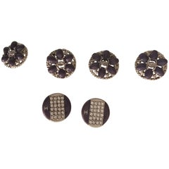 Chanel Buttons Gripoux/ Swarosky Crystals Set ^