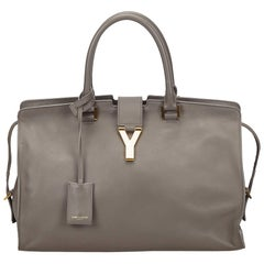 YSL Gray	Leather Cabas Chyc