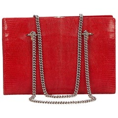 Valentino Red Leather Chain Bag