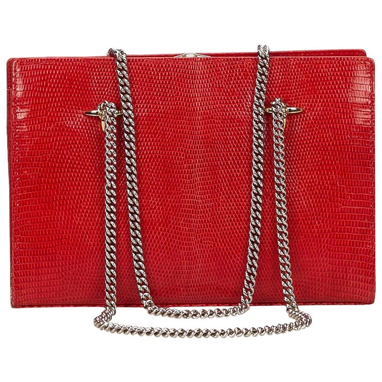 Valentino Red Leather Chain Bag For
