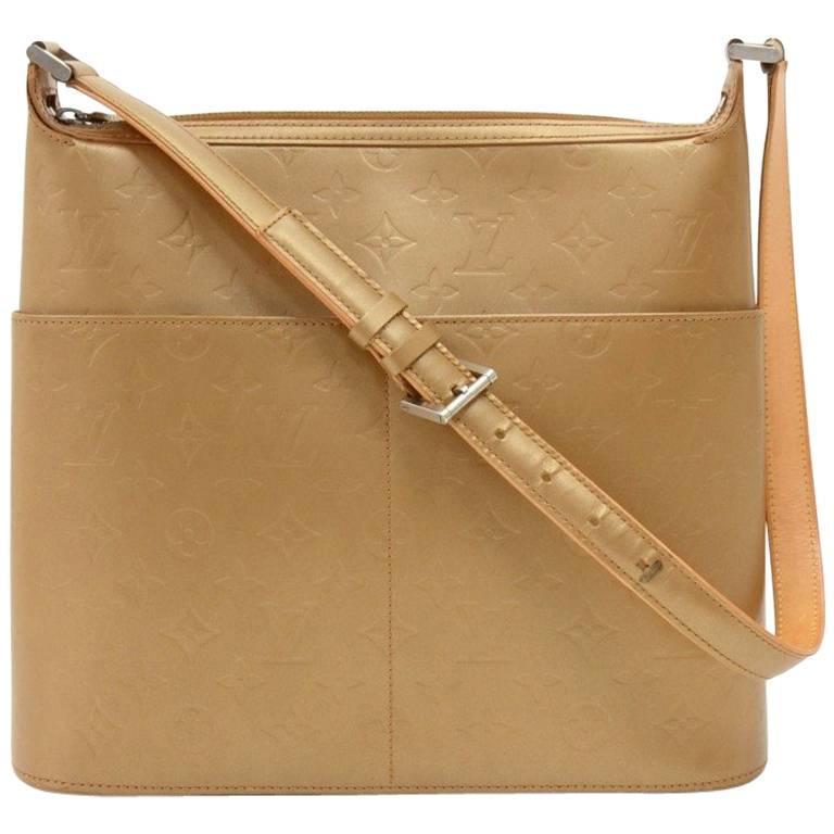 Louis Vuitton Sutter Gold Monogram Matt Large Shoulder Bag