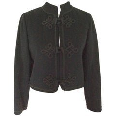 Vintage 1980's Yves Saint Laurent Classic Black wool jacket