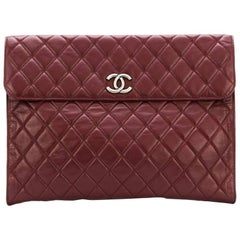 Chanel  quilted envelope clutch