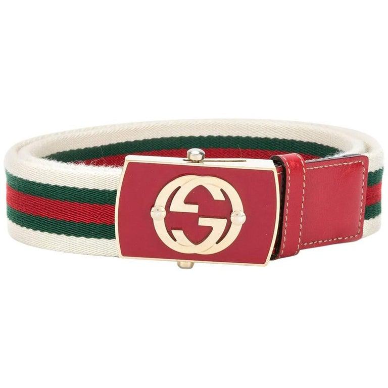 Gucci Vintage Web Belt