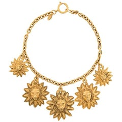 Chanel Sun Lion Heads Necklace