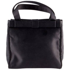 Prada Black Satin Evening Tote Bag