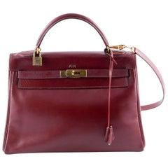 Hermes Red Box Calf Kelly 32 Tote Bag