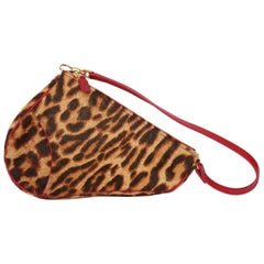 A 1990s Vintage Christian Dior Animal Printed Pony Hair Saddle Bag