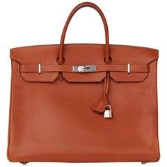 Hermes Noisette Vache Liegee Leather Birkin 40cm
