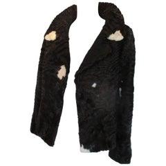 black persian lamb fur jacket