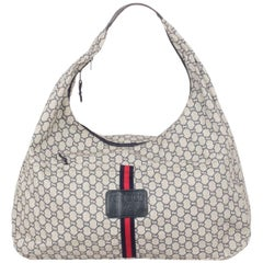 Gucci Plus Vintage Blue Monogram Extra Large Hobo Bag