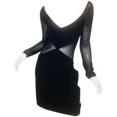 Herve Leger Sheer Panel Dress