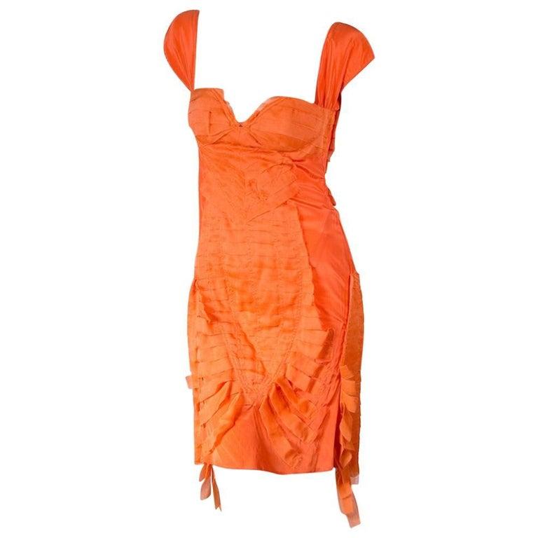 Tom Ford for Gucci Orange Silk Shreds Dress, Spring 2004