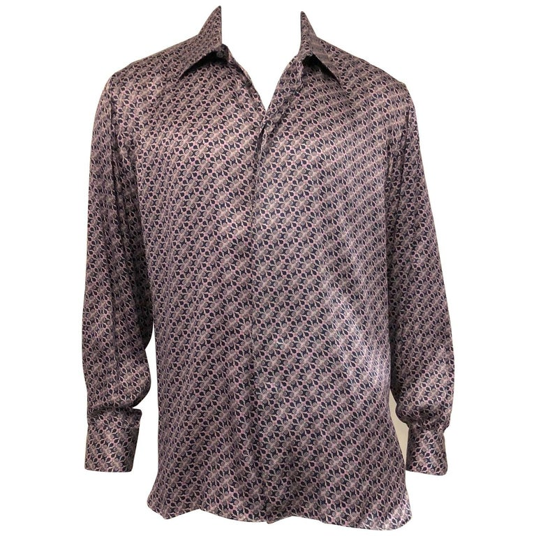 67d81c7d2dc578 Men s Glamorous Galtrucco Italian Silk Shirt in Lilac and midnight ...