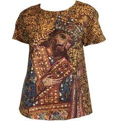 Dolce & Gabbana Byzantine Mosaic King Print Top NWT