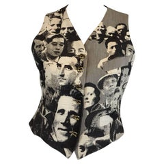 Jean Paul Gaultier Faces Vest Eye Buttons