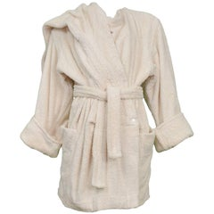 Super Rare Alaia Terry Robe 1980's