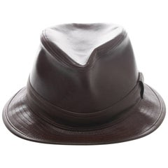 Hermès Funk NOIR Black Leather Hat