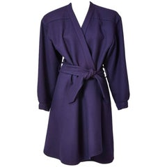 Yves Saint Laurent Couture Belted Wool Coat
