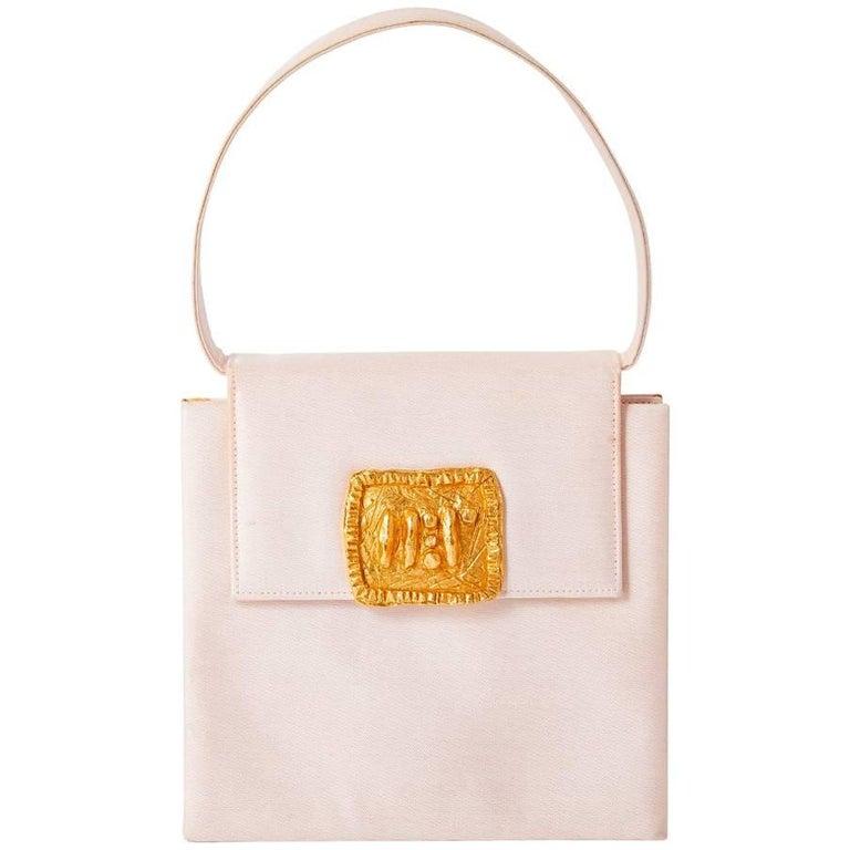 Christian Lacroix Silk Handbag with Sculpted Clasp