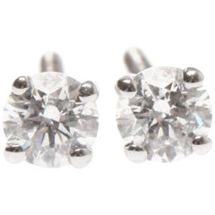 Lady's 18ct with gold diamond earrings