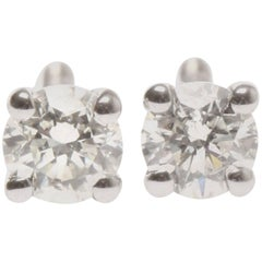 Lady's 18ct white gold diamond earrings