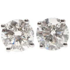 Lady's 18ct white gold diamond earrings
