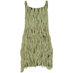 Rare Stephen Sprouse 1988 Straw Covered Dress