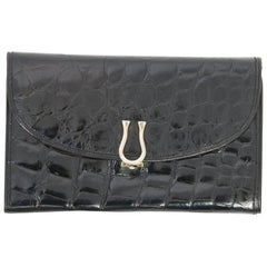 Black Alligator Clutch/Wallet