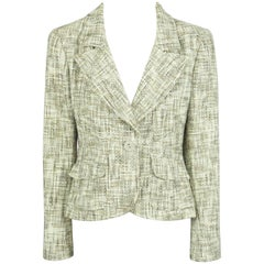 Chanel Earthtone Cotton Tweed Jacket - 42 - 03P